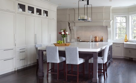 Large Center Island white cabinets