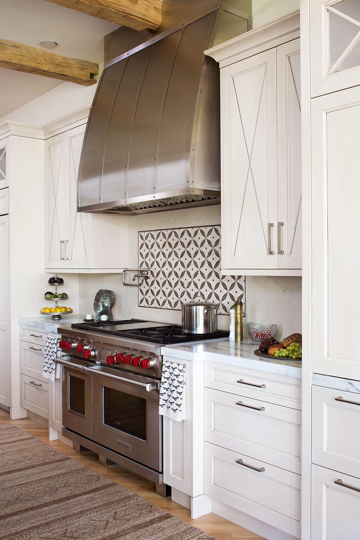 Elegant stove and cabinets, dream kitchen