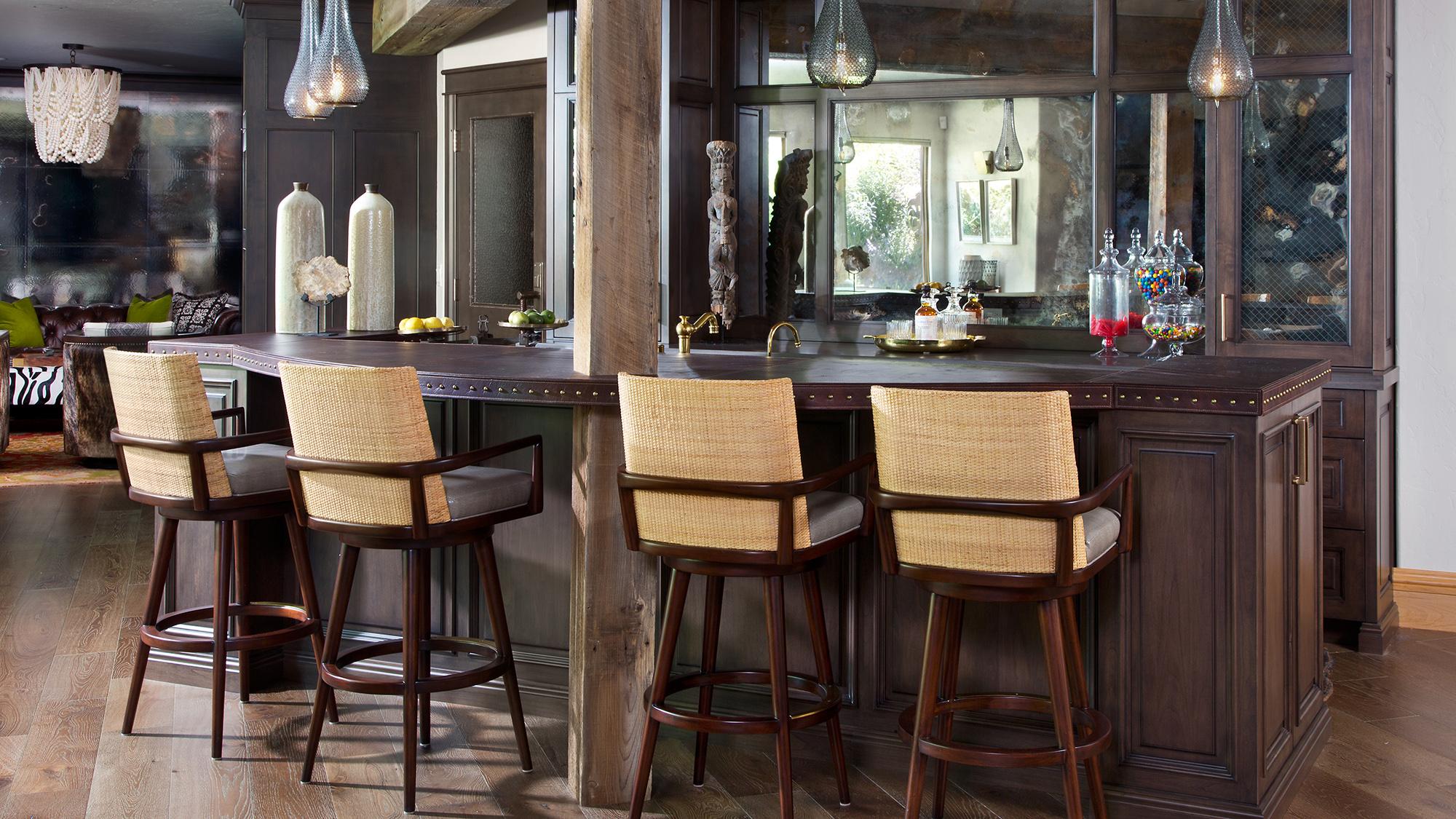 Dark wood custom kitchen