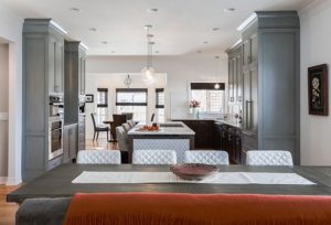 Custom transitional kitchen completes modern home