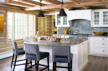 Cabin in the woods, rustic custom kitchen