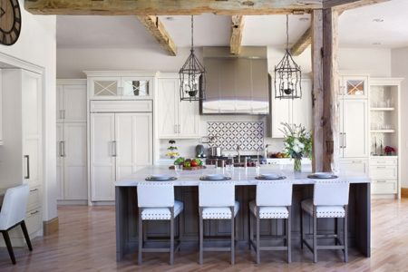 Rustic custom cabinetry transitional style
