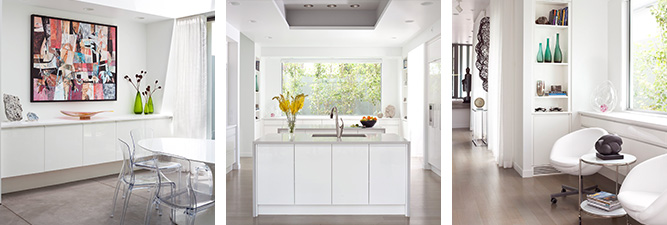 Gallery of custom cabinetry created by William Ohs in Denver featuring white cabinets