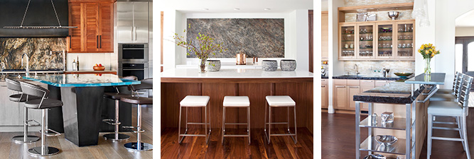 Gallery of custom-made cabinets for kitchens by William Ohs in Denver