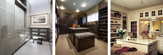 Gallery of custom built cabinets for high-end closets by William Ohs in Denver