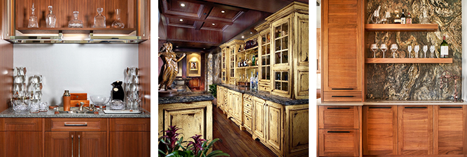 Custom-built cabinets in wood by William Ohs in Denver