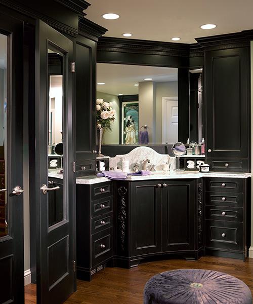 Custom cabinetry for modern bathroom by William Ohs in Denver