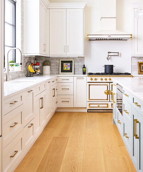 image of kitchen with white cabinets