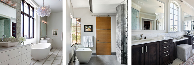 Various high-end bathroom designs in Vail, Colorado